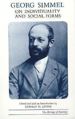 Georg Simmel on Individuality and Social Forms by Georg Simmel (1972, Paperback)