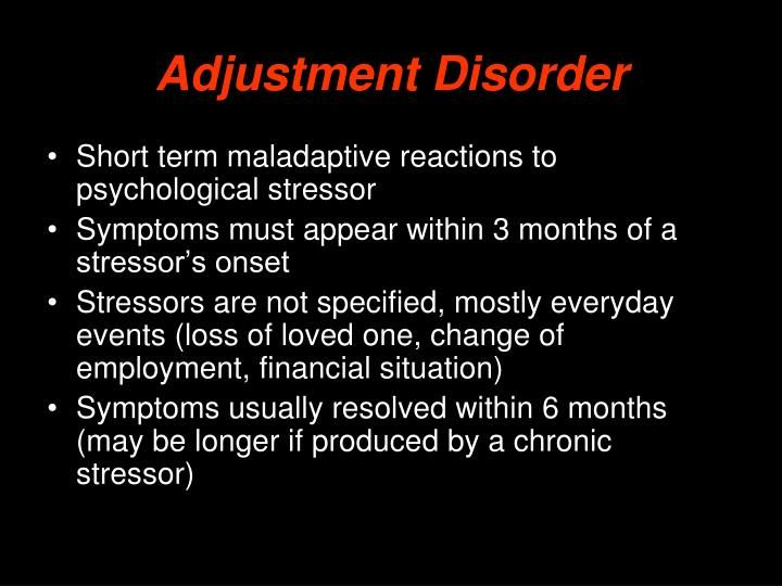 adjustment disorder with disturbance of conduct case study A case analysis of mdt with an adolescent with conduct personality disorder this case study examines a 165 -year- old male adolescent conduct disorder and.