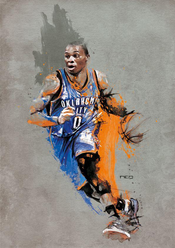 Russell WESTBROOK - NBA by neo-innov    First pinned to Celebrity Art board here... http://www.pinterest.com/fairbanksgrafix/celebrity-art/ #Drawing #Art #CelebrityArt