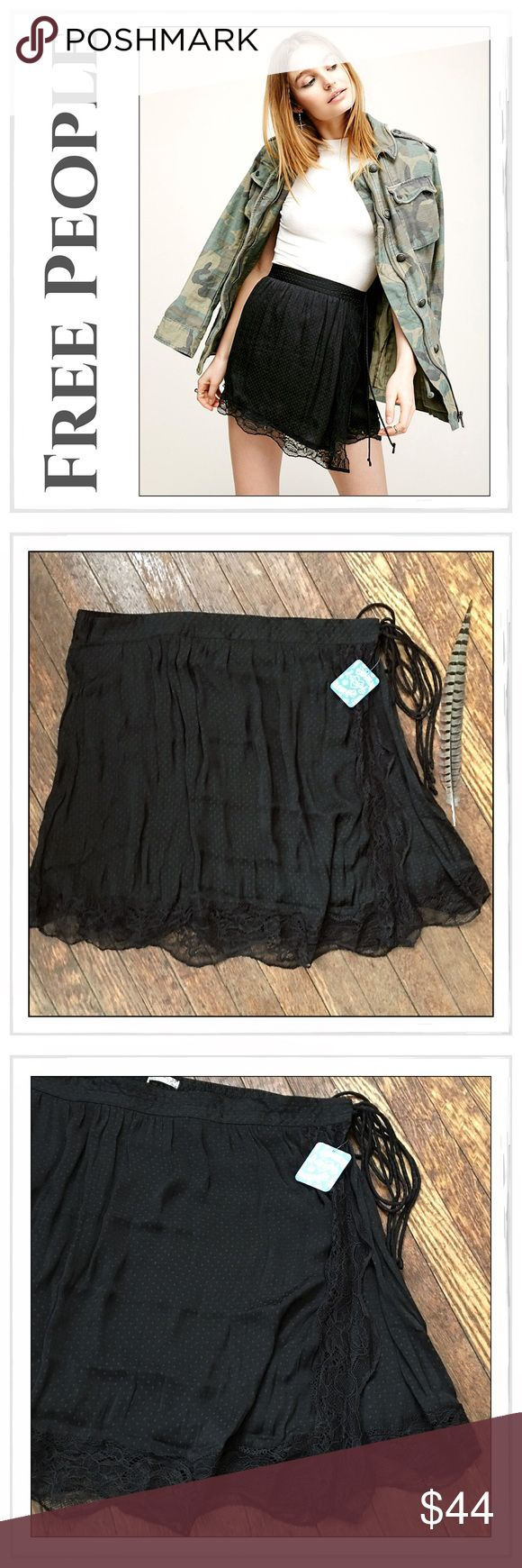 ✨Free People Tied Half Slip Skirt✨ ✨Free People Tied Half Slip Skirt✨Retro inspired wrap mini skirt slip featuring a tonal dotted print✨Delicate scalloped lace trim and an elastic band in back for an easy fit✨Adjustable side tie✨100% Polyester✨NWT✨Size Large✨SOLD OUT✨Last Two Pictures Are the same skirt in pink and used to show the style only in detail✨ Free People Skirts Mini