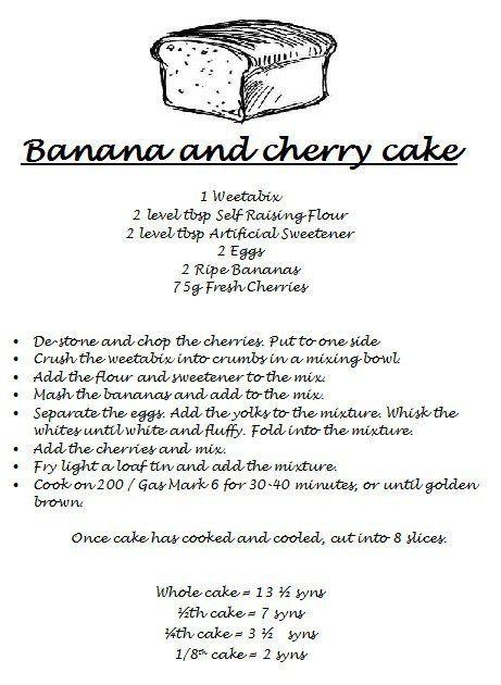Banana & Cherry Cake :)