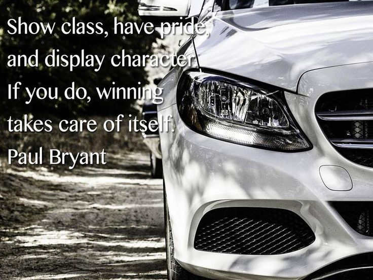 Show class, have pride, and display character. If you do, winning takes care of itself. Paul Bryant #SundayMotivational #TeamStanmar