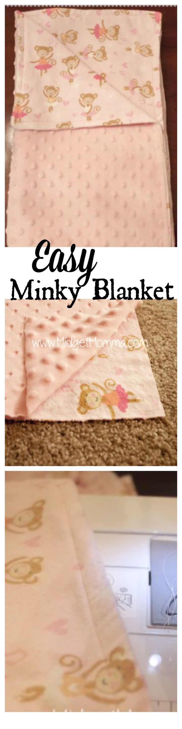 DIY Minky Blanket. Make a minky blanket yourself with any fabric you want. Easy to follow step by step DIY Minky Blanket directions to make your own blanket! Use whatever fabric colors and designs you want to make your own super soft minky blanket! Can ma