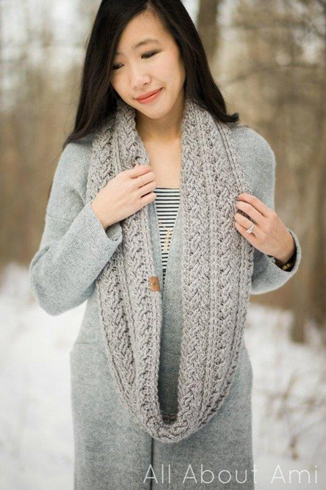 fc819d1a526 Braided Cabled Cowl   Slouchy Beanie Crochet pattern by Stephanie Lau. Find  this pattern and more crochet inspiration at LoveCrochet.Com.