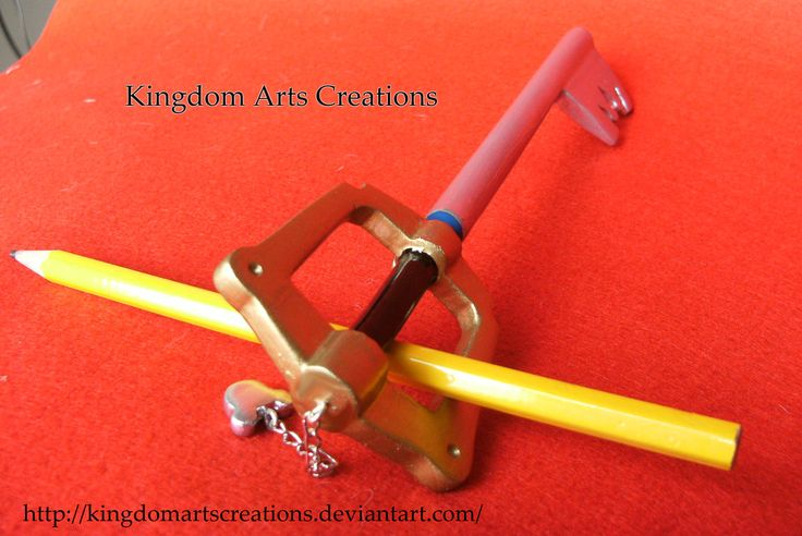 Kingdom Key keyblade miniature by KingdomArtsCreations on DeviantArt