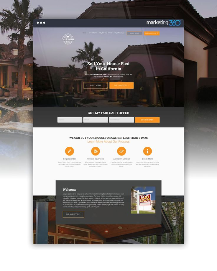 Real estate website design of the day by Real Estate Marketing 360® - handcrafted by Bekah Holden, Gianne Perry, Rob Lacy and Megan Gilliam