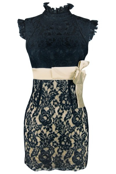 Lindo..: Little Dresses, Dresses Shops, Engagement Dresses, Recipes, Styles, Bows, Champagne Toast, Black Lace Dresses, Rehear Dinners