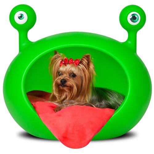 ¡La cama para perro mas cool! Guisapet Red Monster de venta en Petsy.mx