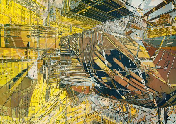 atelier olschinsky  very Lebbeus Woods-esque