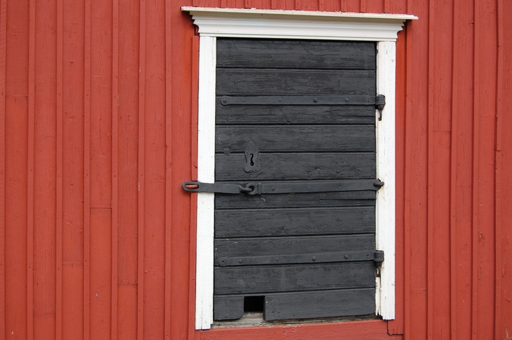 An old door in Old Rauma, Finland. The UNESCO´s World Heritage Site.