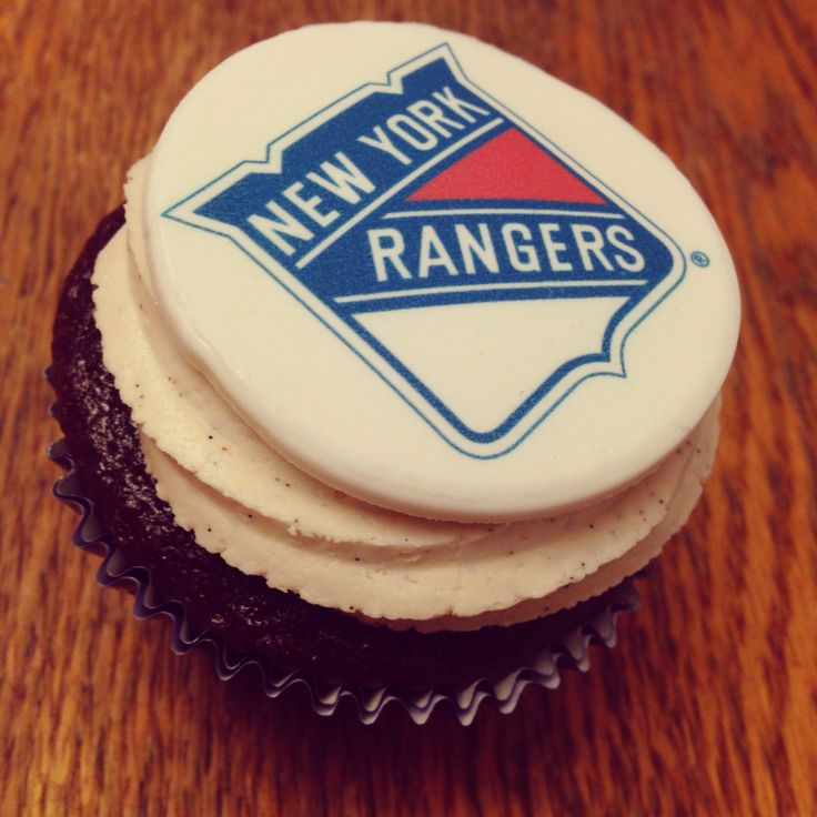 Ny rangers cupcake by How Sweet It Is NY