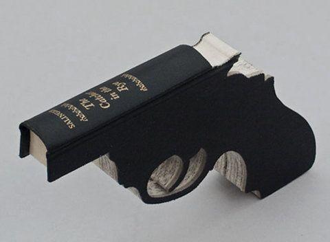 Book GunOld Book, Book Guns, Book Art, Bookart, Book Sculpture, Book Worth, Bangs Bangs, Guns Book, Artists Book