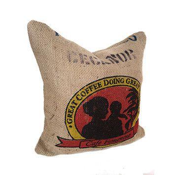 Coffee Sack cushion - Bonny Boutique