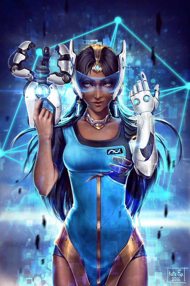 "Overwatch Symmetra Fanart by Kate-FoX | ""Hi, everyone! Recently I was commissioned by Blizzard and now I'd like to show you the results of my work. This is Symmetra from the ""Overwatch"" video game. She is an interesting, attractive character with a unique design and drawing her was a fascinating experience. I've always liked such characters and that's why it was a pleasure to fulfill this commission."" —Kate-FoX"