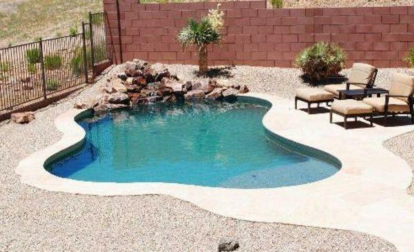 interessante-poolgestaltung-im-garten-gartengestaltung | mini-pool, Garten und Bauen
