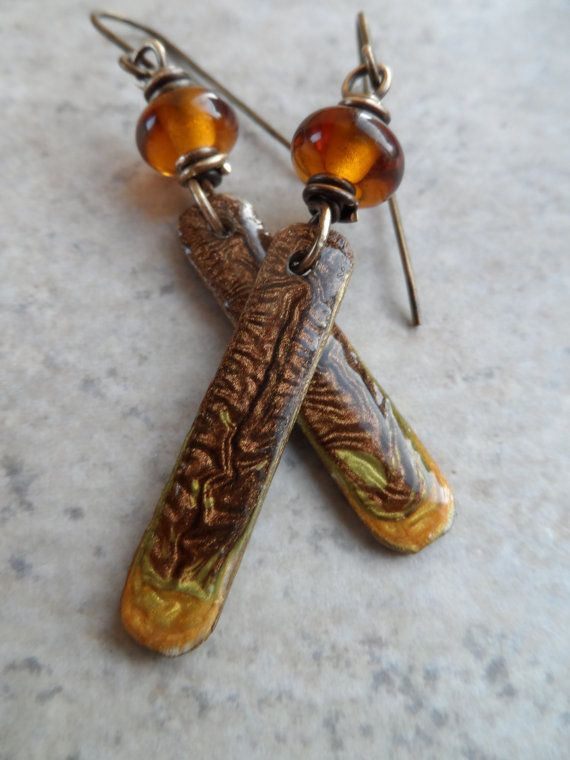 Hot Buttered Rum ... Lampwork and Enameled by juliethelen on Etsy