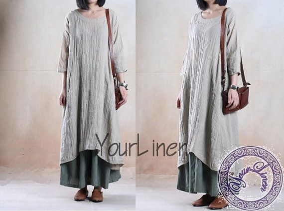 Plus size clothing linen dress long dress maxi long by YourLinen, $89.00