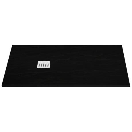 £260 victorian plumbing Imperia Black Slate Rectangular Shower Tray 1400 x 800mm Inc. Chrome Waste