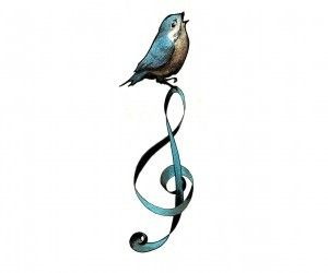 Bird Singing Tattoos– Music Tattoo...on my shoulde blade