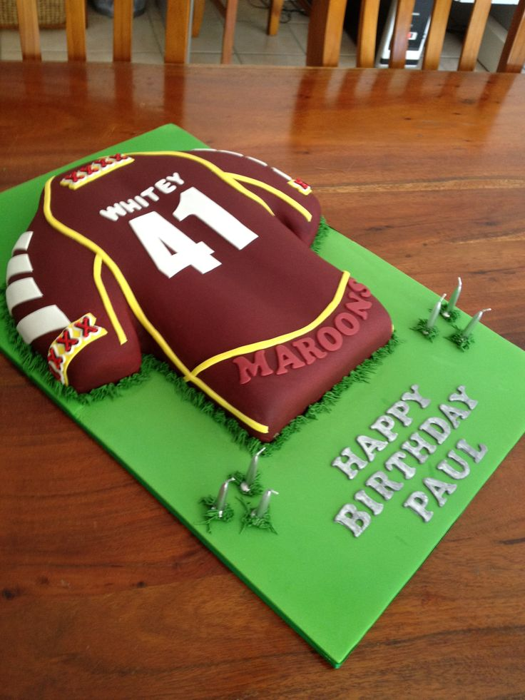 Maroons Rugby League cake