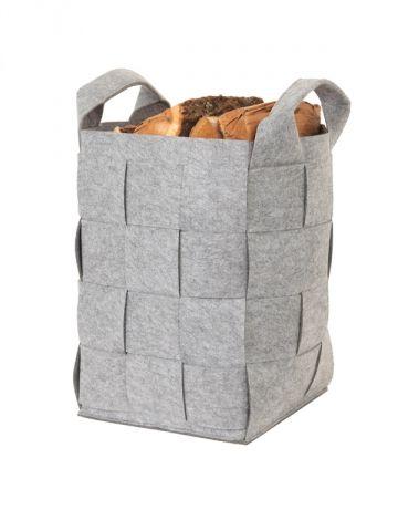 Sélection accessoires cheminée : Panier à bûches Zugara - Marque : Le Marquier Matière : Feutre
