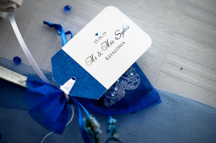 Favors in blue - Beautiful choice #weddingideas #weddingingreece #mythosweddings #kefalonia