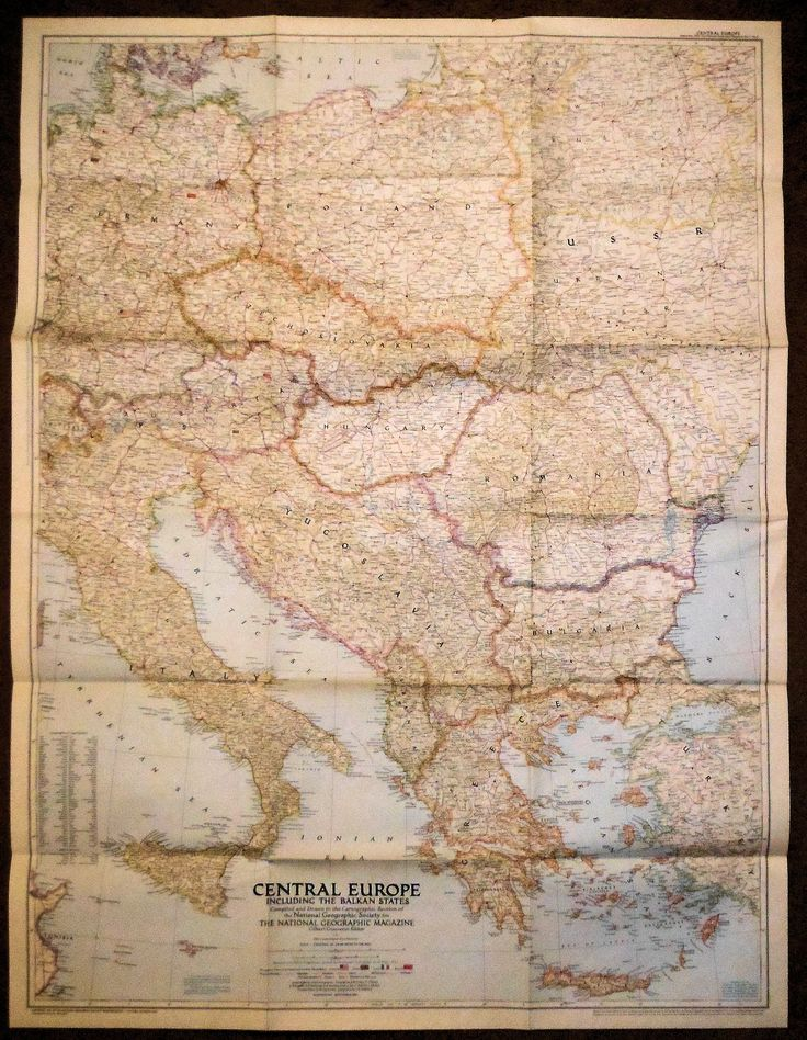 Nat Geographic Central Europe 1951 45 best