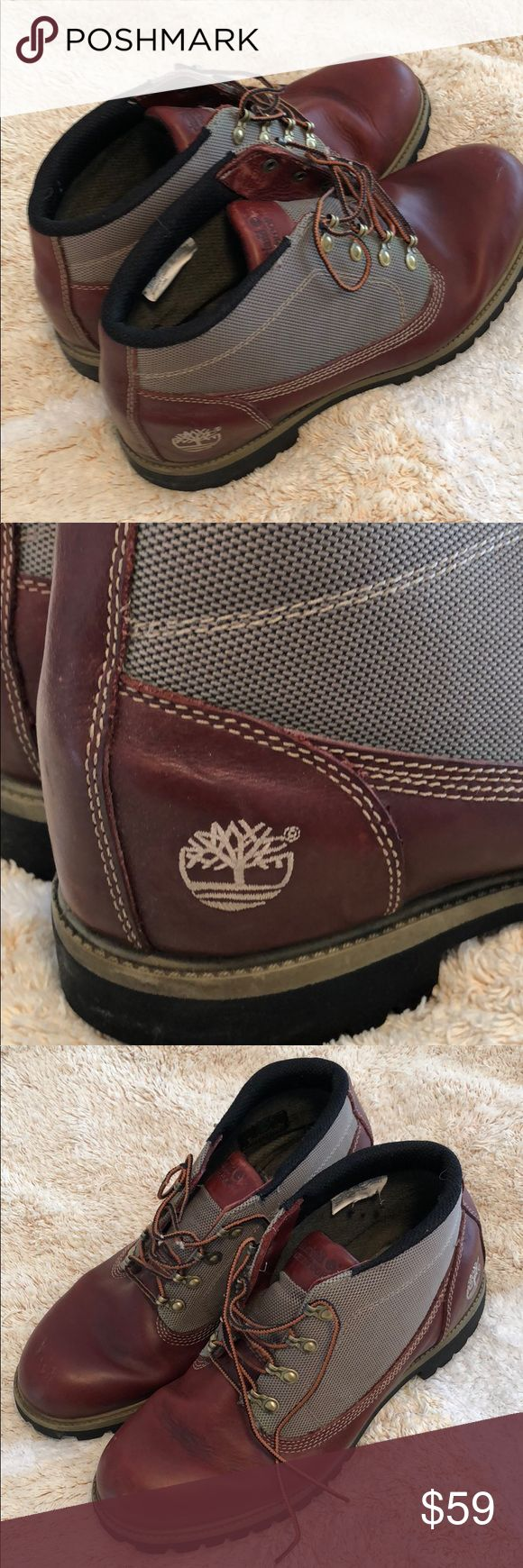 Leather Timberland boots. Light wear. Leather excellent condition.   smoke free pet free home. Timberland Shoes