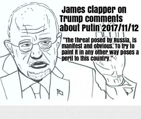 "James Clapper, former National Intelligence Chief responds to Trump claims that Putin ""didn't meddle"" in 2016 US Presidential Election November 11 2017 https://awakeposttruth.com/trump-says-putin-didnt-meddle-in-2016-us-presidential-election-november-11-2017/?utm_content=buffer75d9f&utm_medium=social&utm_source=pinterest.com&utm_campaign=buffer #DonaldTrump #TrumpRussia #TrumpRussiaCollusion #awakeposttruth #JamesClapper"