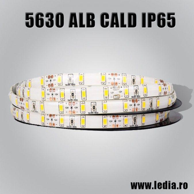 BANDA LED 5630 ALB CALD IP65 12V