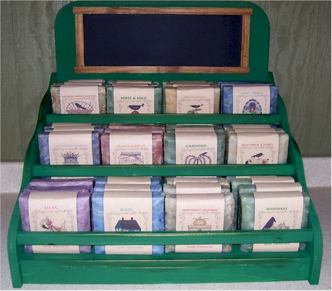 Display Rack W Handmade Soaps Products I Love