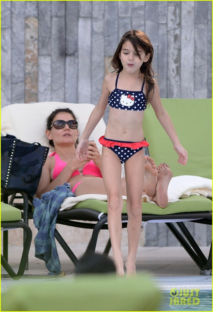 Katie Holmes: Pink Bikini Babe in Miami with Daughter Suri ...