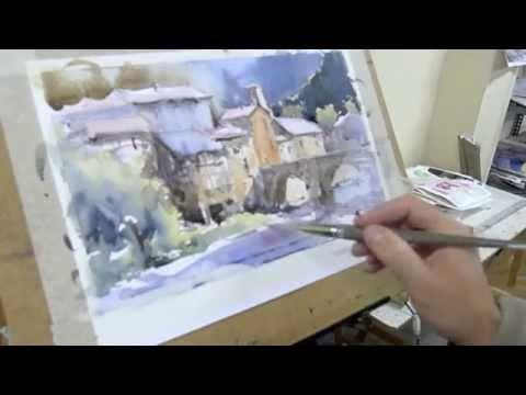 Como pintar acuarela paso a paso. Watercolor demo. Watercolor turorial. - YouTube