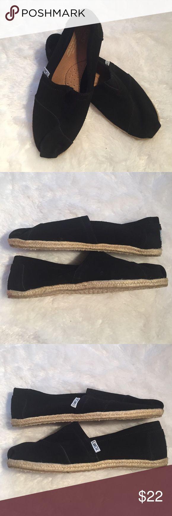 〰Women's toms 8.5 Suede〰 Women's 8.5 toms Suede black excellent condition TOMS Shoes Flats & Loafers