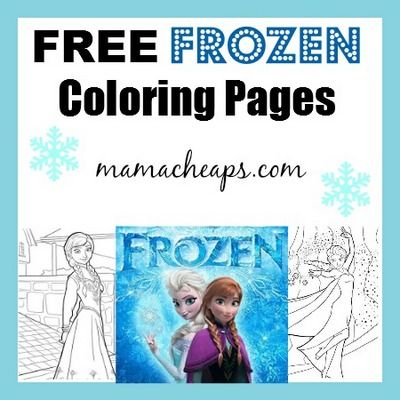 FREE Frozen Printable Coloring Pages Anna Elsa Olaf And