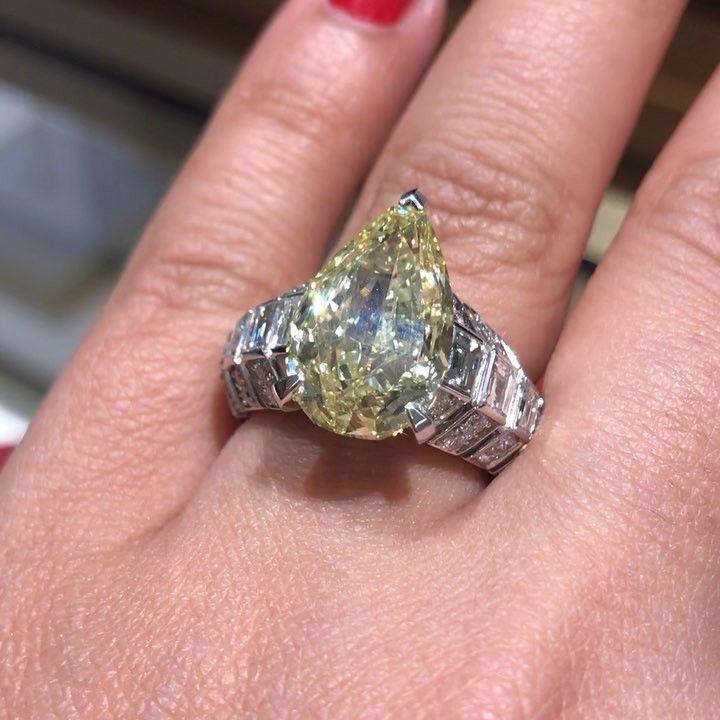 Cartier. Via MITRA JEWELS (@mm_diamondsjewellers) on Instagram: 7.15 ct intense yellow diamond. @cartier