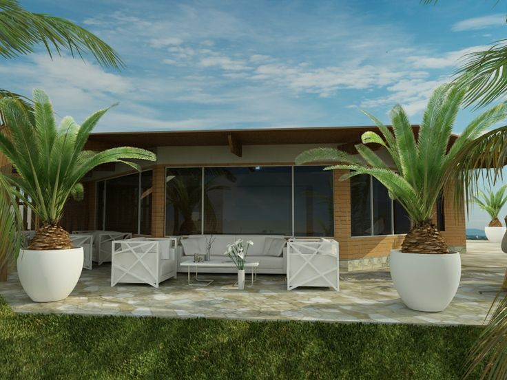 Vista en 3d de la Terraza - Casa Colán - Piura, Desarrollada y Remodelada por Idee Concept