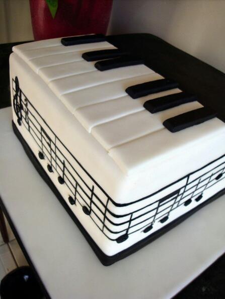 Piano cake design | Cake ideas | Pinterest | Piano Keys, The Piano and ...