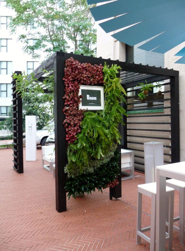 Pergola con Jardin vertical en DecorAccion 2013, MediaLab Prado (Madrid)