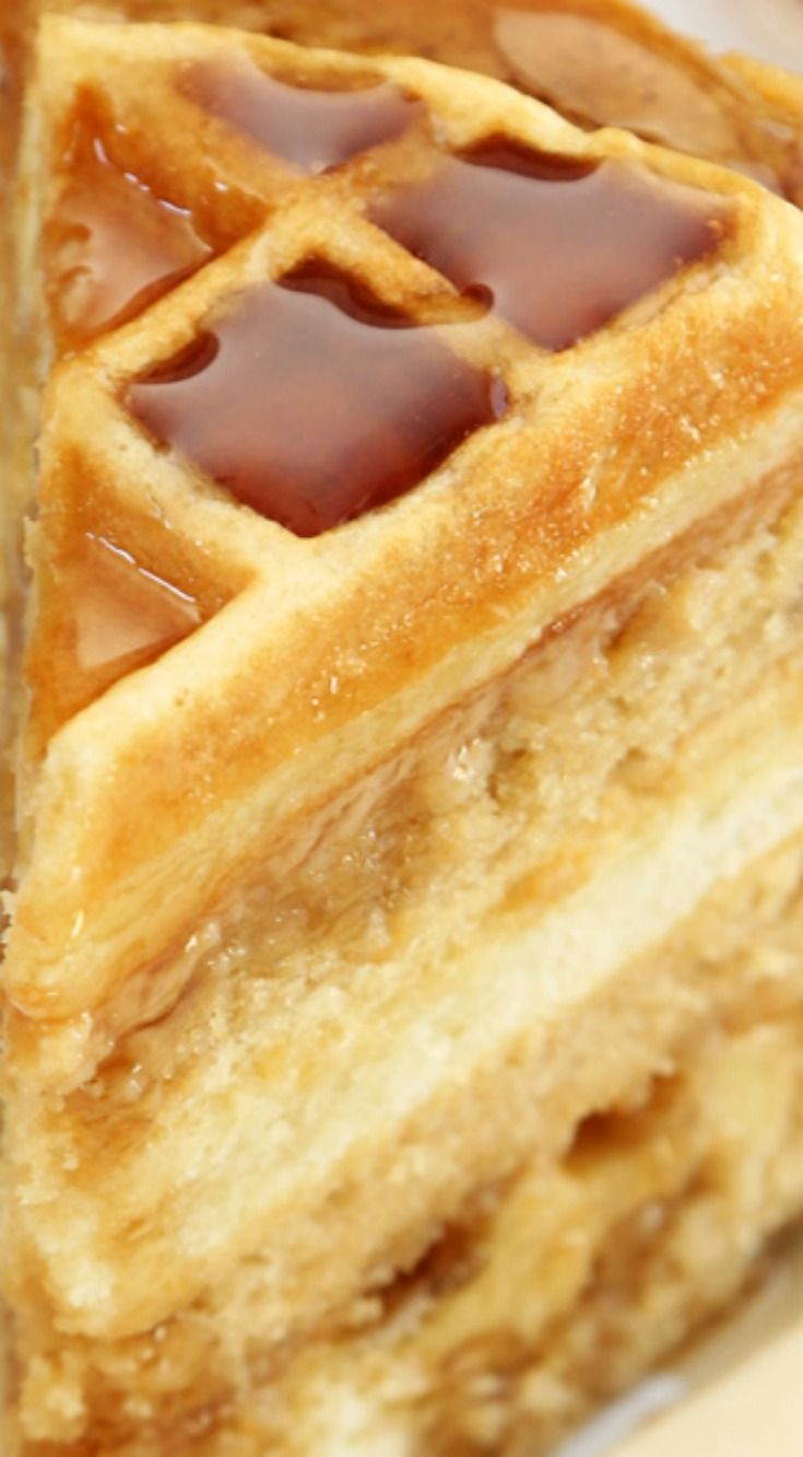 Maple Belgian Waffle Cake ~ This cake is a true marriage of breakfast and dessert, and brings a whole new meaning to 'Eat Cake for Breakfast'. The maple cake is tender and the waffle center is slightly chewy, but soft enough to cut with a fork edge.