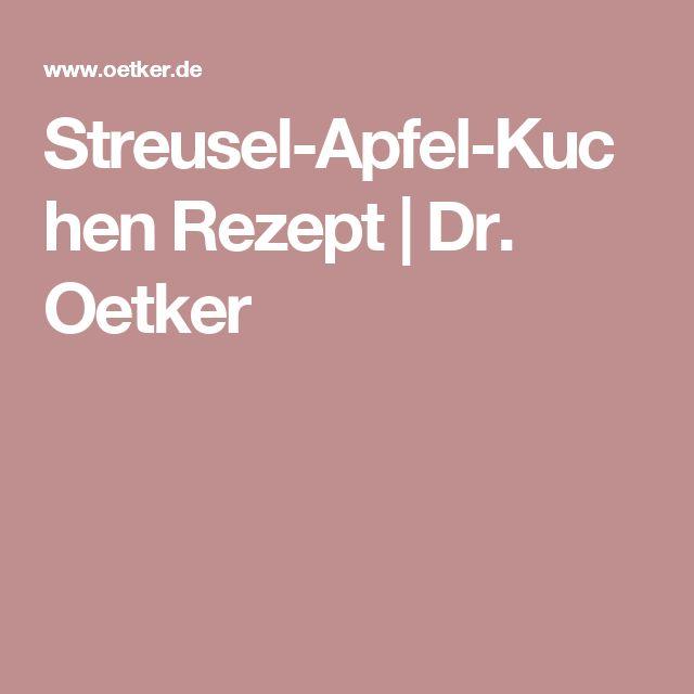 Apfel streusel kuchen dr otker