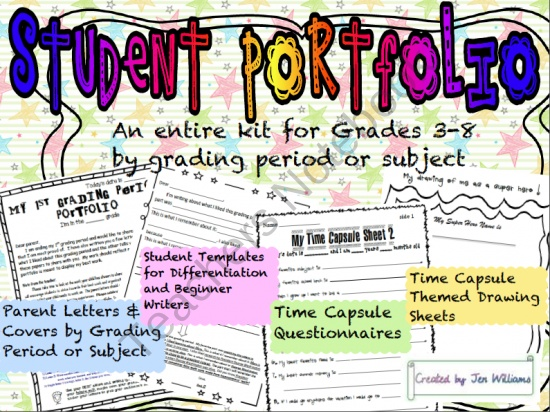 96 best images about student portfolios on pinterest for Educational portfolio template
