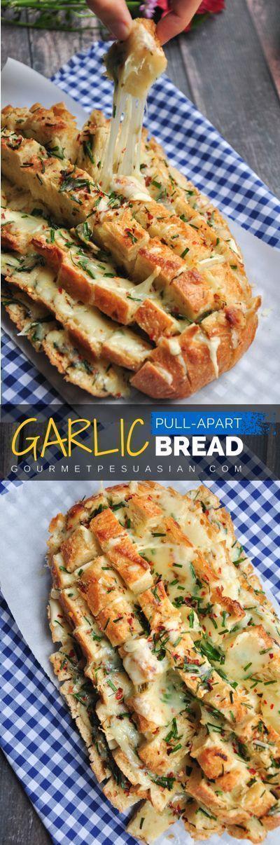 Easy Dinner Party Ideas For 6 Part - 41: Garlic Pull-Apart Bread