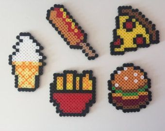 Fruit Magnets Perler Bead by PixelPrecious on Etsy