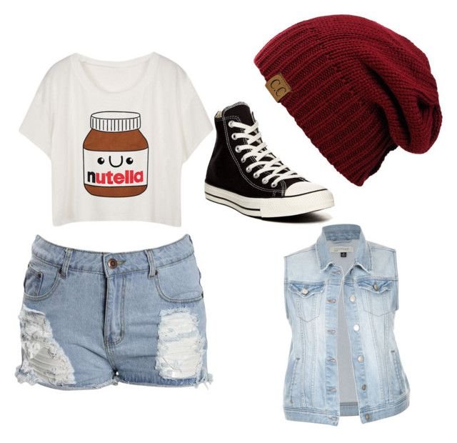"""""""Nutella"""" by super19fam on Polyvore featuring beauty and Converse"""