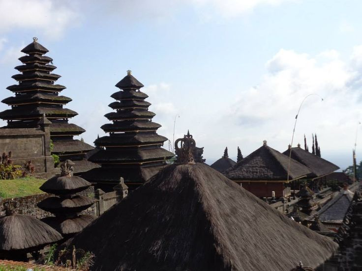 A forest of rooftops in Besakih, Bali