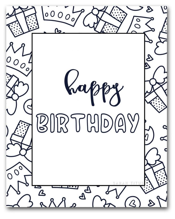 25+ Happy birthday coloring pages free to print inspirations
