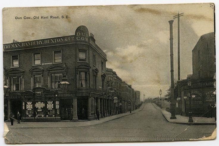 Dun Cow Pub Old Kent Road Southwark 1907 London postcard by Henschel [320