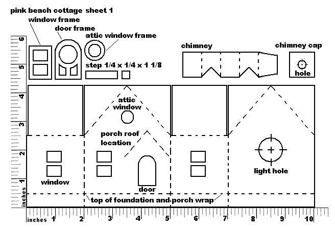 Pattern For Cardboard House Paper Cardboard Putz And