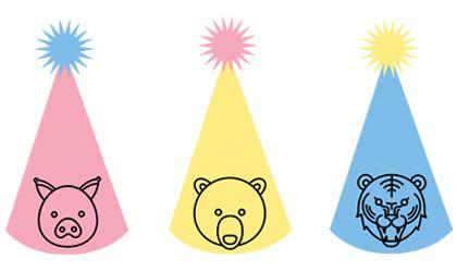 Creare cappelli di carta con gli animali utilizzando le sagome pronte da stampare gratis